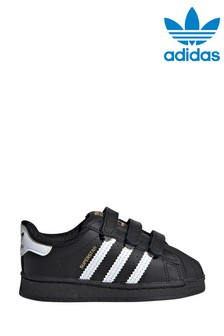 adidas Originals Black/White Velcro Superstar Infant Trainers