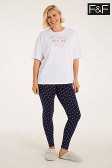 F&F White I'm The Boss Family Pyjamas