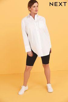 Свободная рубашка с отделкой на рукавах для беременных
