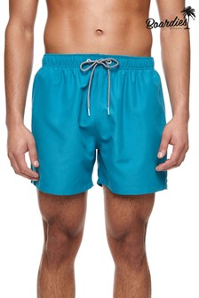 Boardies Teal Blue Short Length Swim Shorts
