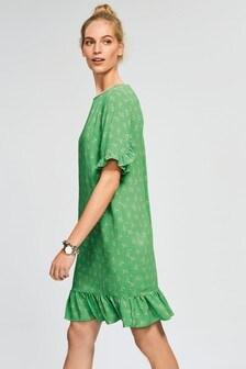 Długa sukienka z warstwami falban