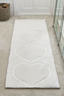 Faux Fur Hearts Runner