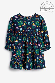 Little Bird Rainbow Printed Smock Dress