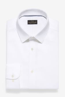 Non-Iron Egyptian Cotton Stretch Signature Shirt