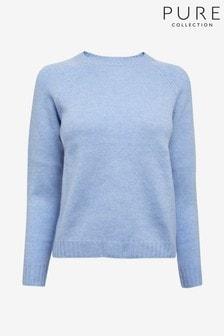 סווצ'ר של Pure Collection דגם Cashmere Lofty בכחול