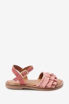 Кожаные сандалии с оборками (Младшего возраста)