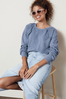 Broderie Frill Sweater