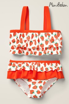 Mini Boden Red Frilly Bikini Set