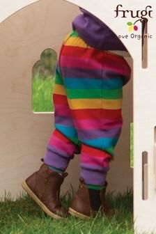 Frugi Organic Cotton Cosy Joggers - Pink Rainbow Stripe