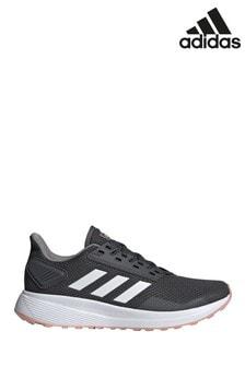 Серые/белые кроссовки для бега adidas Duramo 9