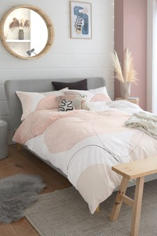 Natural Sanctuary Large Geometric Duvet Cover and Pillowcase Set