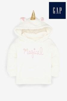 Sudadera con capucha de polar con diseño de unicornio de Gap
