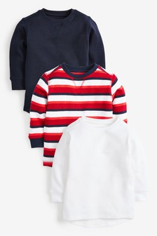 3 Pack Stripe Textured T-Shirts (3mths-7yrs)