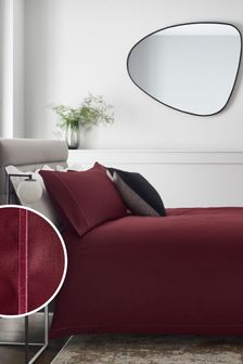 Deep Red 300 Thread Count 100% Cotton Sateen Collection Luxe Duvet Cover And Pillowcase Set