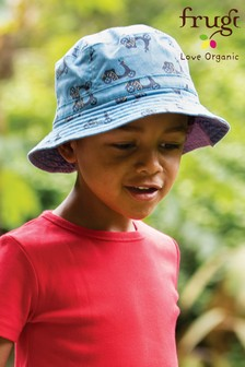 Frugi Blue Scooters GOTS Organic Reversible Hat