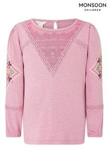 Monsoon S.E.W Häkel-Top, Pink