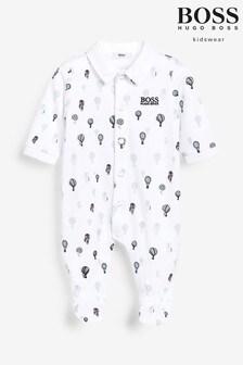 Pijama tipo pelele blanco con globos de BOSS