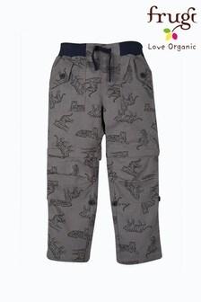 Pantalon style militaire Frugi en coton biologique ripstop gris imprimé tigre