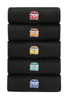 Volkswagen Camper Van Bestickte Socken im 5er-Pack