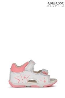 Geox Baby Girl's Tapuz White/Fuchsia Sandals