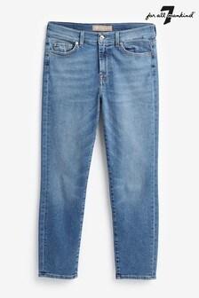 7 For All Mankind 復古藍色Roxanne緊身七分牛仔褲