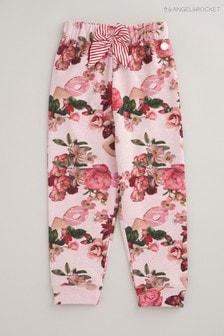 מכנסי טרנינג פרחוניים של Angel & Rocket בצבע ורוד