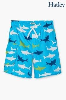Hatley Great White Sharks Swim Trunks