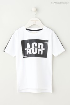 Angel & Rocket White Graphic T-Shirt