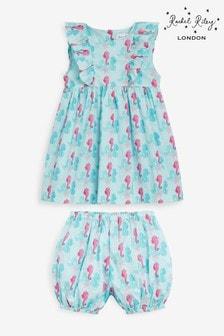 Rachel Riley藍色海馬褶邊背心裙及燈籠褲