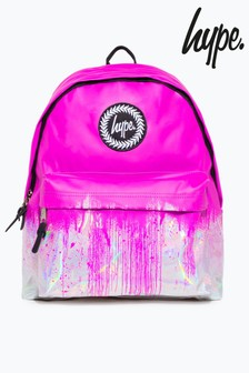 Hype. Pink Holographic Drip Backpack