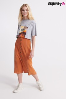 Superdry Rust Midi Skirt