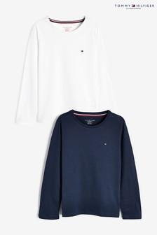 Tommy Hilfiger Langärmelige Shirts, Blau, 2er-Pack