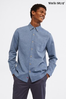 White Stuff Blue Ainsdale Cotton Linen Shirt