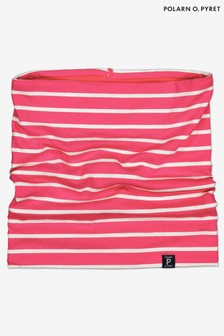 Polarn O Pyret Purple Organic Soft Stripe Neck Warmer