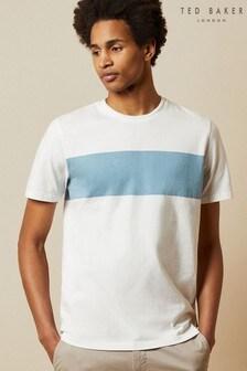 Ted Baker Squishh T-Shirt mit Bruststreifen