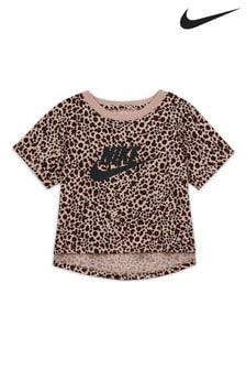 Nike Leopard Cropped T-Shirt