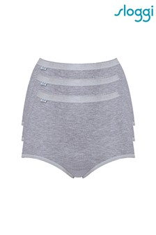 Sloggi Grey Basic+ Maxi Briefs Three Pack