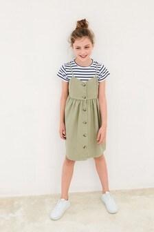 סט שמלה וחולצת טי (גילאי 3 עד 16)