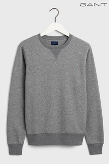 GANT Original Grey Crew Neck Sweater