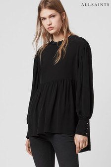 All Saints Fayre Bluse, schwarz