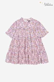 Velveteen Pink Millie Satin Tiered Dress