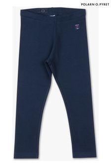 Polarn O. Pyret Blue GOTS Organic Leggings