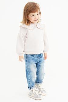仿紙袋腰帶牛仔褲 (3個月至7歲)
