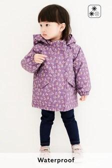 Водонепроницаемая куртка с цветочным принтом (3 мес.-7 лет)