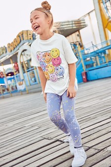 Smiley Face T-Shirt And Leggings Set (3-16yrs)