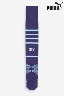 Puma Manchester City Blue Hooped Socks