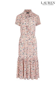 Lauren Ralph Lauren Pink Floral Vedarra Dress