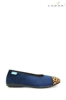 حذاء للبيت طراز باليرينا أزرق نسائي منLunar