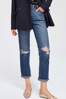 Mittelhohe Boyfriend-Jeans