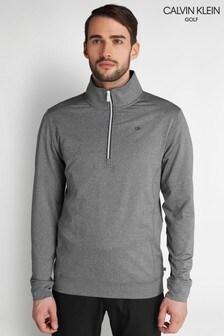 Calvin Klein Golf シルバー Orbit ハーフジップセーター